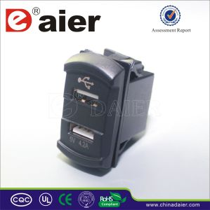 Daier USB Charge for Car/Truck/Marine Socket (DS2013-E) pictures & photos