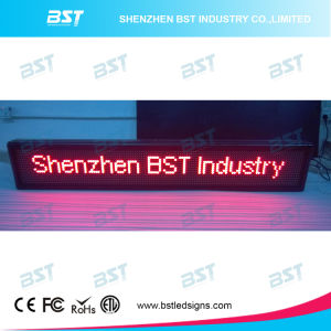 Programmable Semi-Outdoor Red Color Scrolling LED Message Sign pictures & photos