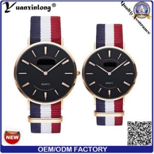 Yxl-495 New Arrival Fashion Watch Knitted Canvas Nato Nylon Strip Couple Wrist Watch Casual Dress Mens Watches Promotion Watch pictures & photos