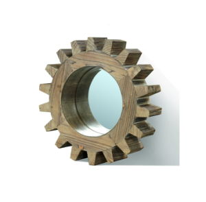 Gear Shape Solid Wood Mirror Frame Decorative Wall Mirror pictures & photos