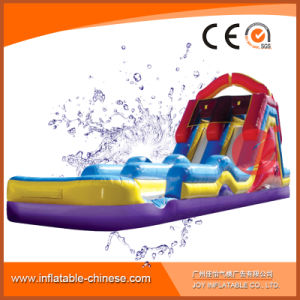 Inflatable Double Lane Water Slide for Kids with Pool (T11-112) pictures & photos