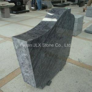 Ocean Blue Granite Gravestone with Rose Sandblast pictures & photos