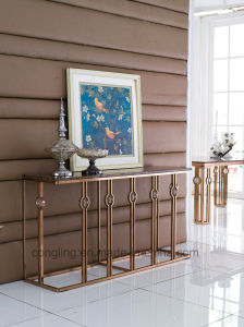 Marble Top Gold Wall Console Table (C9001)