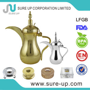 Golden Coating Arabic Dallah with 202 Stainless Steel High Grade Material pictures & photos