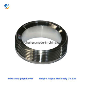 OEM Stainless Steel Round Cover Plate Inner Threaded Knurled Outside pictures & photos