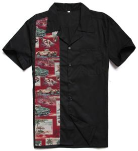 Chinese Clothing Manufacturers Men Dress Shirt Cars Printing Hawaiian pictures & photos
