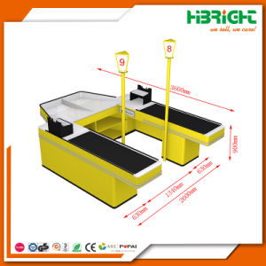 New Design Double Sided Electric Automatic Cashier Checkout Counter pictures & photos