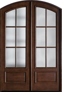 Designs Double Exterior Rustic Wood Door for Home (GSP1-039) pictures & photos
