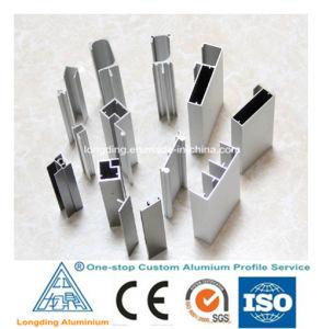 SGS Supplier Clear Anodized Closet Door Aluminum Profile pictures & photos