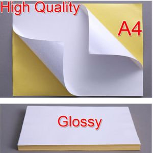 A4 Size Matte White Self Adhesive Waterproof Paper Sticker Label for Inkjet Printer pictures & photos