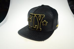 Custom Black 5 Panels PU Embroidery Snapback 3D Caps and Hats pictures & photos
