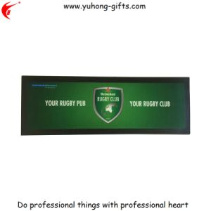 Heat Transfer Printing Rubber Bar Runner Mat for Advertising (YH-BM091) pictures & photos