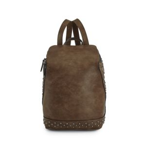 Hot Sale Rivets Vintage Leather Backpacks and Leather Designer Handbags