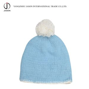 Knitted Bobble Hat Acrylic Knitted Hat with Pompom Acrylic Knitted Beanie Acrylic Kintted Toque Winter Bobble Hat pictures & photos