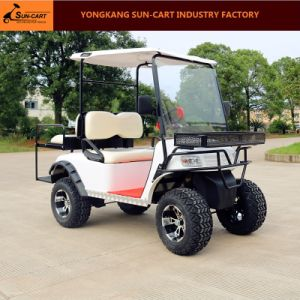 4 Passenger Ce Approved Electric Hunting Golf Cart Rear Back Folding Seats pictures & photos