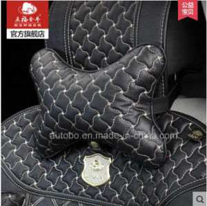 Car Headrest Neck Pillow Bone Shape Windmill Pattern-Black pictures & photos