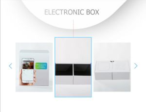 Customized Elegant White Rigid Electronic Digital Gift Box pictures & photos