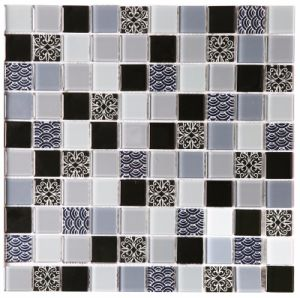 Crackle Cobbles Crystal Glass Tiles Mosaic for New Decoration pictures & photos