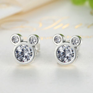 Fashion Jewelry Design 925 Sterling Silver Mickey Stud Earrings pictures & photos