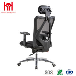 High Quality Black Mesh Office Chair with Headrest China Factury pictures & photos