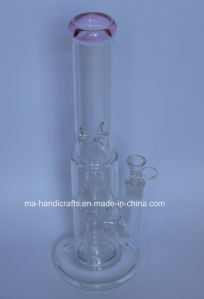 Glass Smoking Water Pipes with Double Tyre Perc pictures & photos