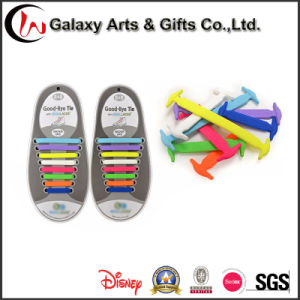 Flat Elastic Silicone No Tie Shoelaces Design for Lock It Super Easy to Clean Shoe Laces pictures & photos