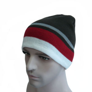 Multi Color Striped Warm Beanie Hat pictures & photos
