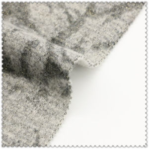 55%Polyester 15%Acrylic 30%Wool of Romantic Flower Woolen Fabric pictures & photos