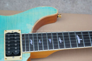 Hanhai Blue Prs Gradient Color Electric Guitar with Gold Hardware pictures & photos