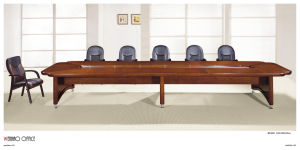 Modern Round Office Wooden Boardroom Meeting Conference Table pictures & photos