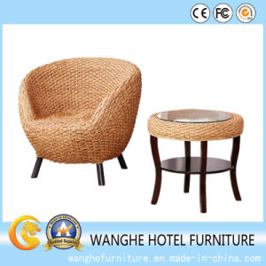 Rattan Hotel Furniture Dining Chair Cafe Coffee Table in Outdoor pictures & photos