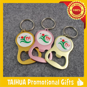 Metal Bottle Opener with Keychain (TH-06921) pictures & photos