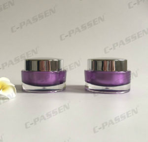 30g Purple Acrylic Cream Jar for Cosmetic Packaging (PPC-ACJ-101) pictures & photos