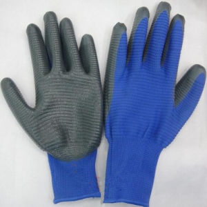 Polyester Shell with Nitrile Coated Latex Gloves pictures & photos