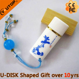 Chinese Classical Gifts Ceramic Oval USB Memory Stick (YT-9107) pictures & photos