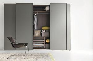 Three Door Sliding Plywood Bedroom Wardrobe pictures & photos
