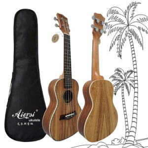 Round Back 24 Inch Concert Hawaii Koa Ukulele Wooden Guitar pictures & photos