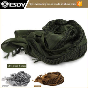 Three Colors Fashion Outdoor Middle East Arabic Cotton Scarf pictures & photos