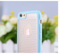Dual Color Breathable Small Fresh TPU+PC Cell Phone Case for iPhone 6s/6 Plus pictures & photos
