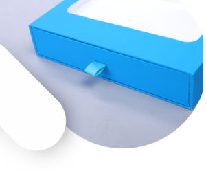 Blue Rigid Cardboard Electronic Box pictures & photos