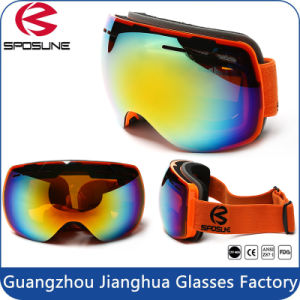 Frameless Snowboard Snowmobile Professional Ski Goggles Anti Fog UV Double-Lens pictures & photos