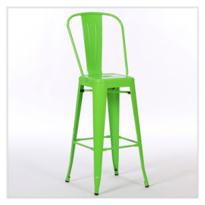 Patio Gaden Furiture Metal Bar Chair Teak Colour Plastic Wood Bar Table (J834) pictures & photos