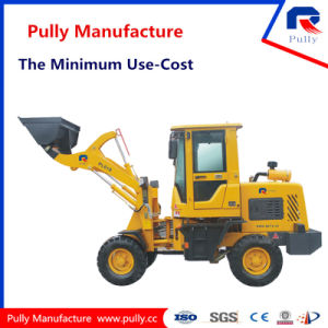 Pully Manufacture 2 Ton 1 Year Guaranty Loading Capacity Mini Backhoe Wheel Loader (PL916) pictures & photos