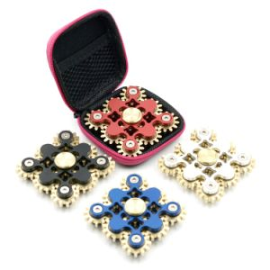 Fashion Colorful Metal Gear Fidget Spinner Hand Finger Bearing Spinner pictures & photos