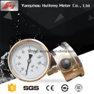 "2.5"" Y63 63mm Premium Stainless Steel Liquid Filled Pressure Gauge pictures & photos"