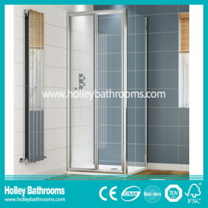 Aluminium Pivot Shower Screen with Tempered Laminated Glass (SE923C) pictures & photos