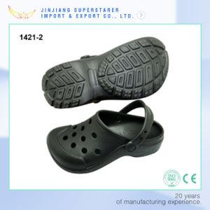 Simple Design EVA Unisex Black Color Garden Clogs pictures & photos