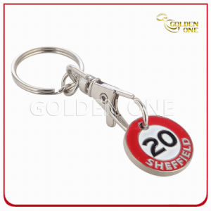 Promotion Gift Custom Soft Enamel Trolley Coin Key Holder pictures & photos