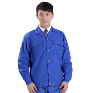 Wholesale Men Workwear Blue Casual Work Uniform