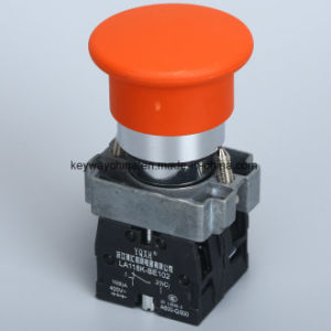Mushroom Metal Type Pushbutton Switch with Red and Green Colors pictures & photos